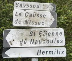 St Etienne de Naucoulès 12400 panneau 1